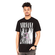 Nirvana - Pink & Grey Silver T-Shirt