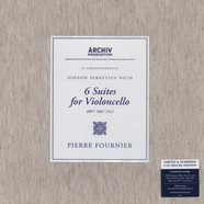 Pierre Fournier - Johann Sebastian Bach: 6 Suites for Solo Violoncello (BWV 1007-1012) Box