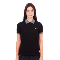 Fred Perry - Polka Dot Collar Pique Polo Shirt