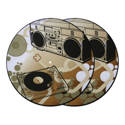 Glowtronics - Ghetto Blasta Glow In The Dark Slipmat