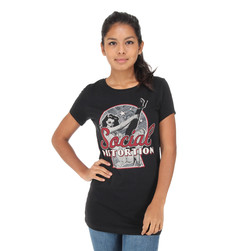Social Distortion - Newspaper Pin-Up Tunic Women T-Shirt