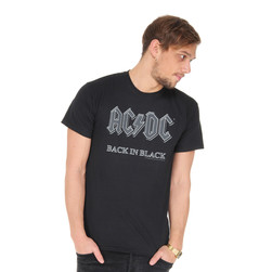 AC/DC - Back In Black T-Shirt (ROCK OR BUST WORLD TOUR 2015)