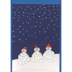 Factory Road - Snowman Christmas Card