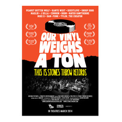 Stones Throw - Our Vinyl Weighs A Ton Red Poster