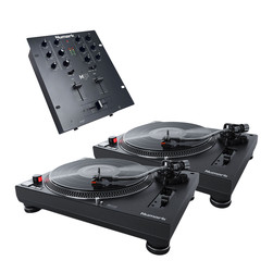 Numark - DJ Starter Set (2x TT250USB Turntable | 1x M101 USB Mixer) Bundle