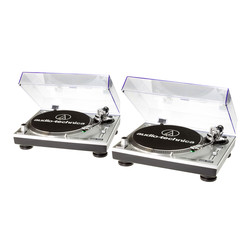 Audio-Technica - Turntable DJ Set (2x AT-LP120USBHC) Bundle