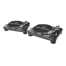 Audio-Technica - Turntable DJ Set (2x AT-LP1240USB) Bundle