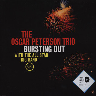 OSCAR PETERSON - Bursting Out With The All Star Big Band - LP
