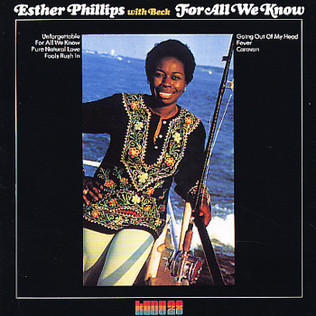 ESTHER PHILLIPS WITH JOE BECK - For All We Know - LP
