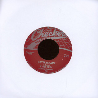 JOHN BRIM & HIS STOMPERS - Rattlesnake / It Was A Dream - 7inch x 1