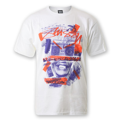 Stüssy - Radio Collage T-Shirt