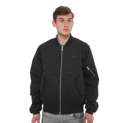 fred perry quilted bomber jacket black. Black Bedroom Furniture Sets. Home Design Ideas