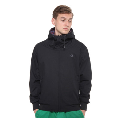 fred perry hooded tennis bomber jacket black. Black Bedroom Furniture Sets. Home Design Ideas