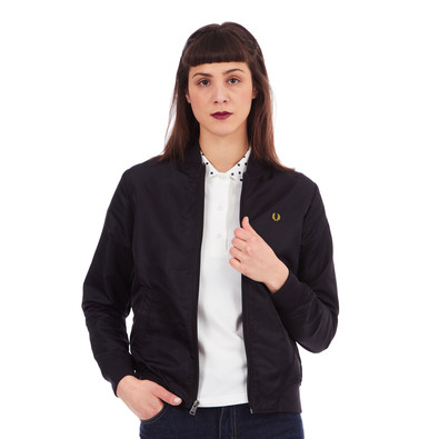 fred perry short unlined bomber jacket black. Black Bedroom Furniture Sets. Home Design Ideas