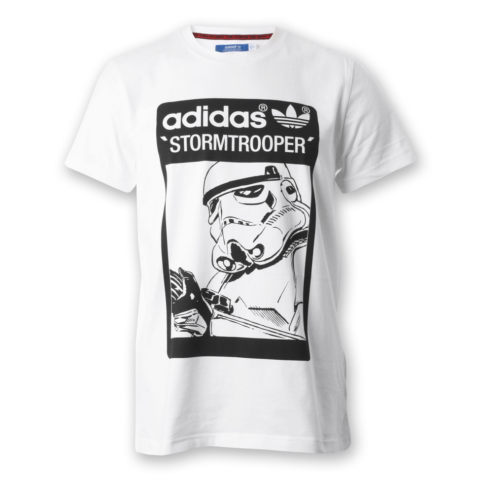 adidas x star wars stormtrooper t shirt white. Black Bedroom Furniture Sets. Home Design Ideas