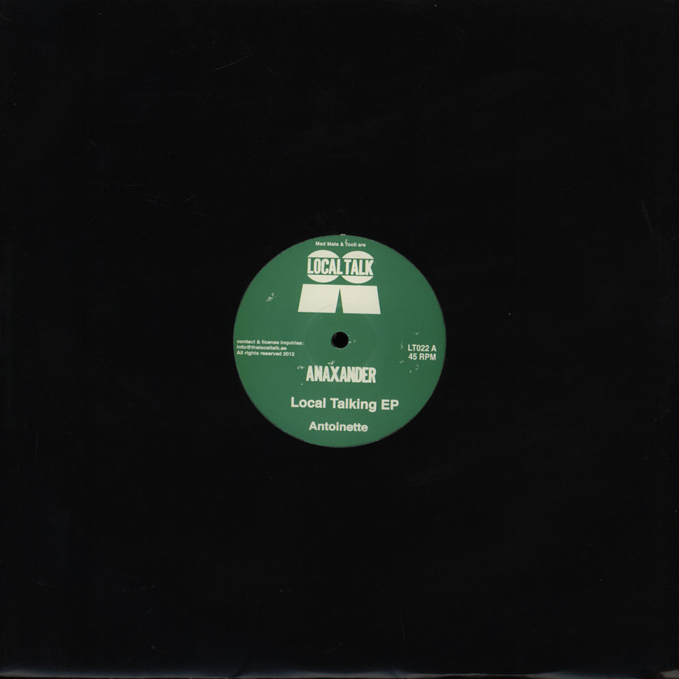 Anaxander local talking ep vinyl 12 2013 eu for What do you know about acid house music