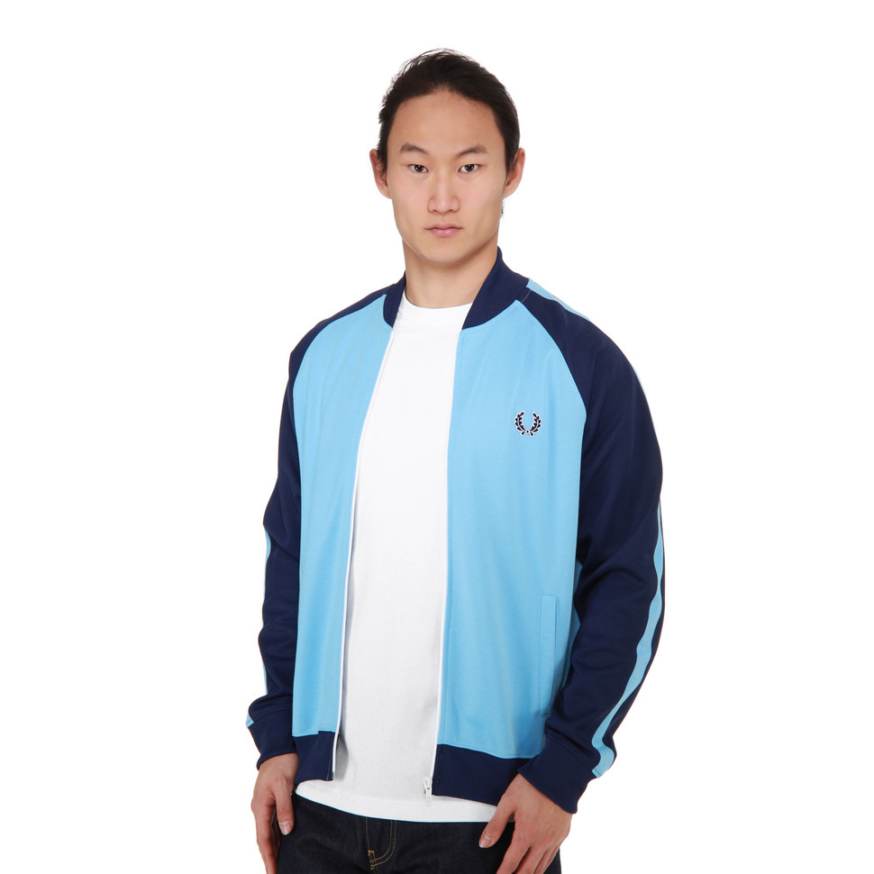 fred perry bomber track jacket alaska blue. Black Bedroom Furniture Sets. Home Design Ideas