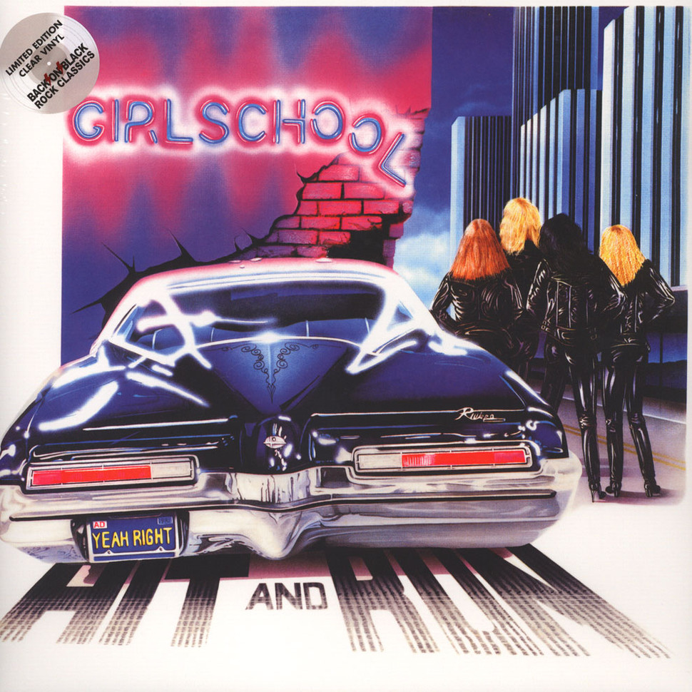 Girlschool Hit And Run Vinyl Lp 1981 Uk Reissue
