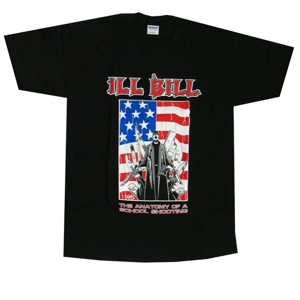 Ill Bill The Anatomy Of A School Shooting T Shirt Black Hhv