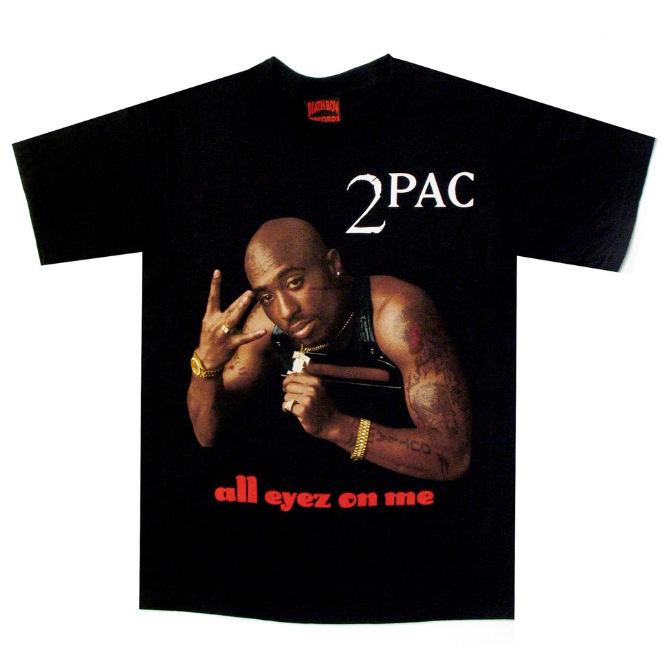2pac all eyez on me t shirt black. Black Bedroom Furniture Sets. Home Design Ideas