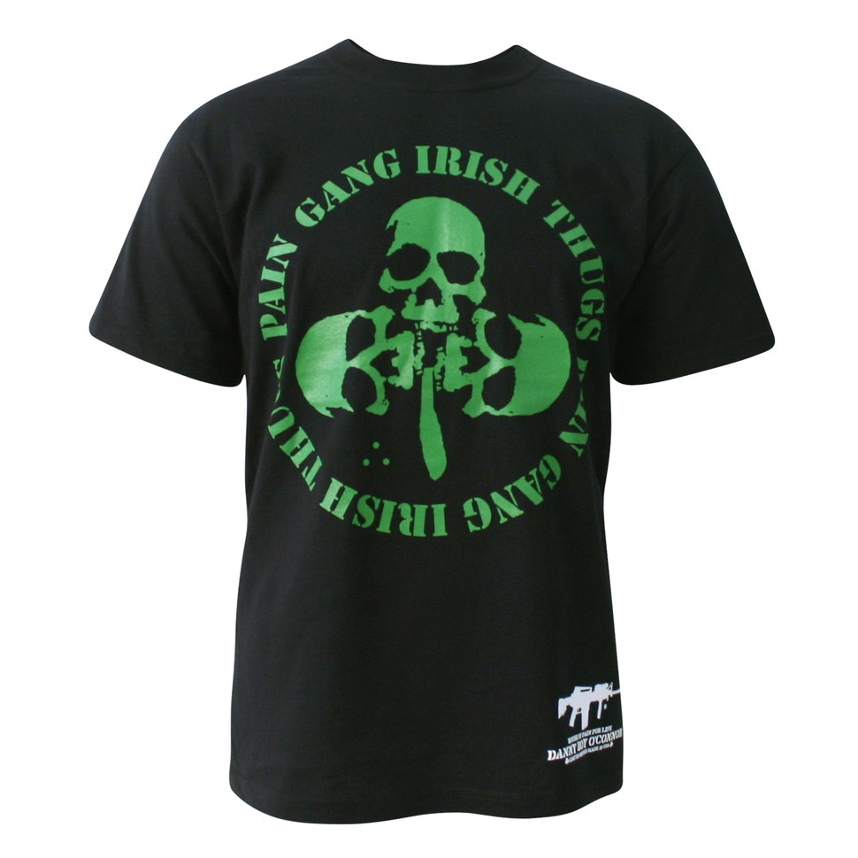 danny boy o 39 connor of house of pain pain gang irish thugs skulls t shirt black. Black Bedroom Furniture Sets. Home Design Ideas