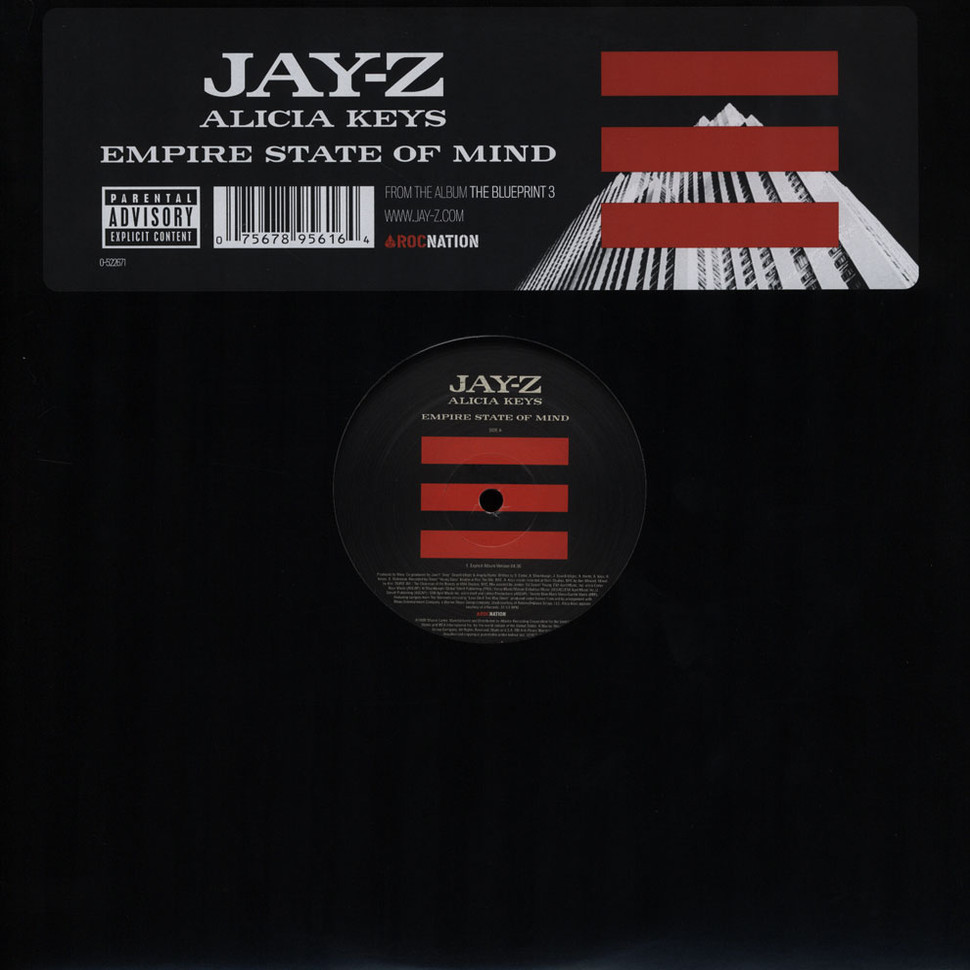 Jay z empire state of mind feat alicia keys vinyl 12 2009 jay z empire state of mind feat alicia keys vinyl 12 2009 us original hhv malvernweather Images