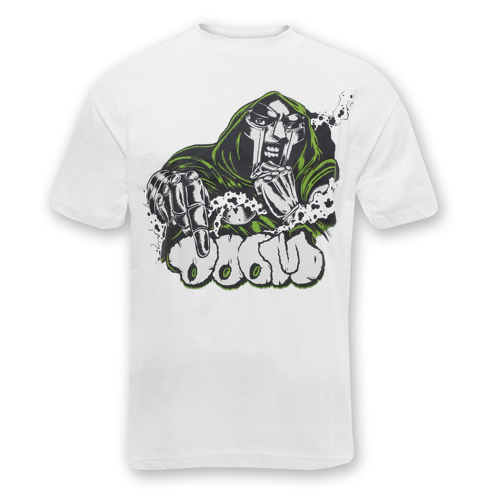 Mf doom doom x veenom t shirt white hhv for Mf doom tattoo