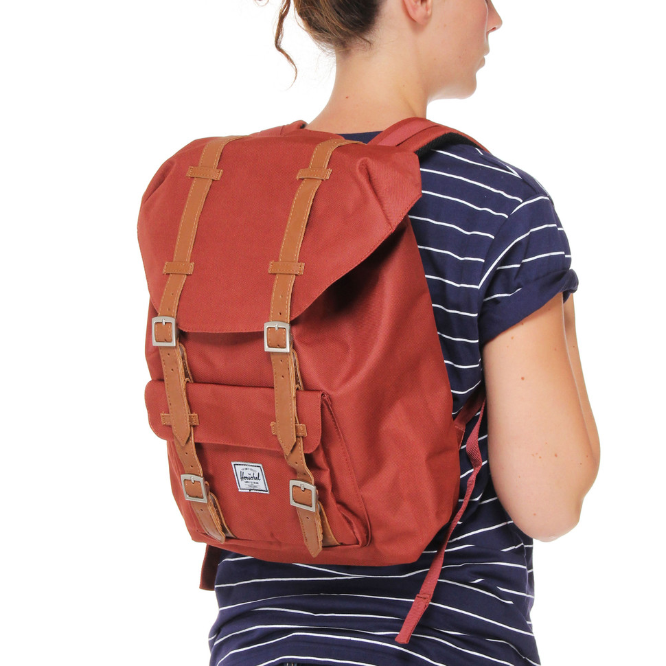 herschel little america mid volume backpack rust. Black Bedroom Furniture Sets. Home Design Ideas