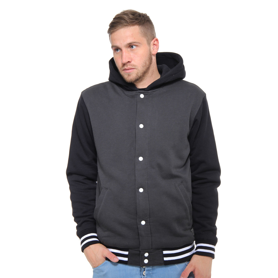 89143ac2a4 Vans - University II Sherpa Button Up Hoodie (New Charcoal   Black ...