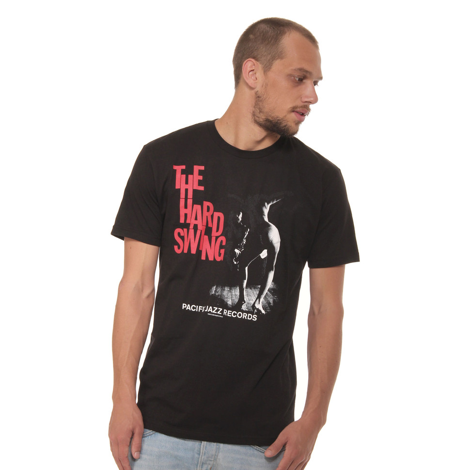 pacific jazz records hard swing t shirt black. Black Bedroom Furniture Sets. Home Design Ideas
