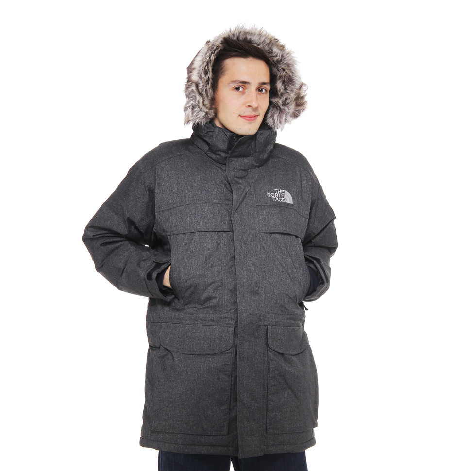 the north face mcmurdo parka charcoal grey heather hhv. Black Bedroom Furniture Sets. Home Design Ideas