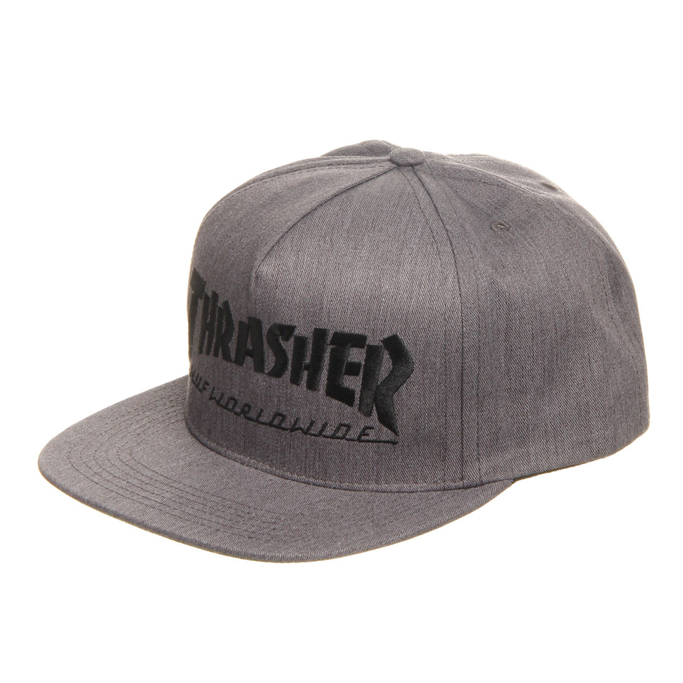 920acdeb735a HUF x Thrasher - Snapback Cap (Grey Heather)