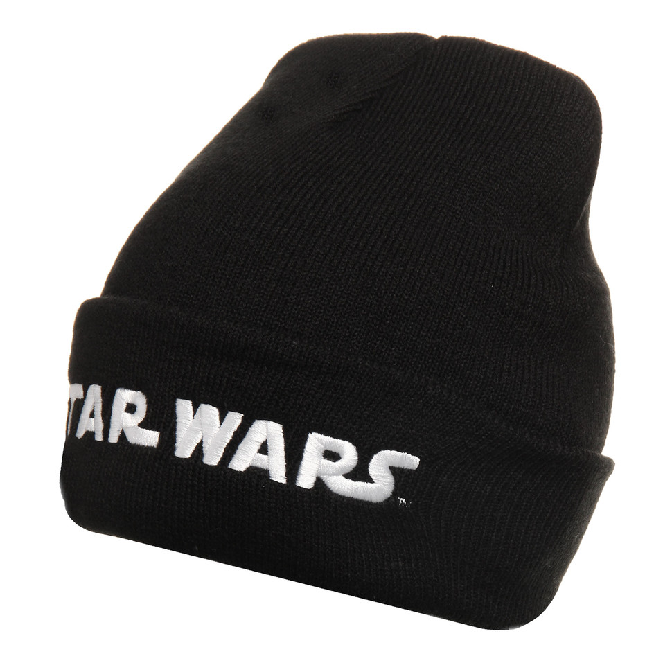 abc8c98f0ad Starter x Star Wars - Wordmark Cuff Knit Beanie (Black   White)
