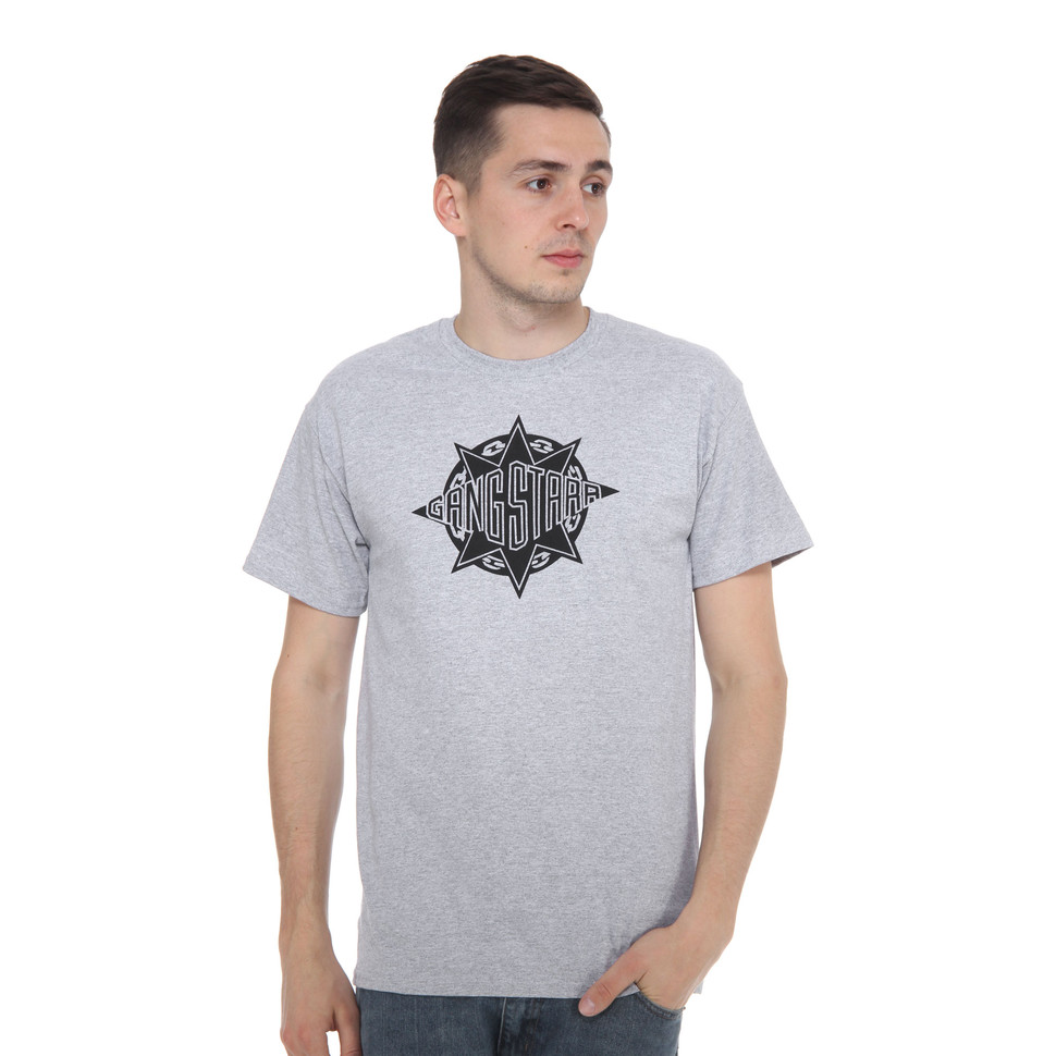 gang starr logo t shirt grey. Black Bedroom Furniture Sets. Home Design Ideas
