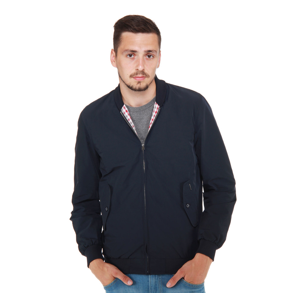 ben sherman memory nylon shawl collar harrington jacket staples navy hhv. Black Bedroom Furniture Sets. Home Design Ideas