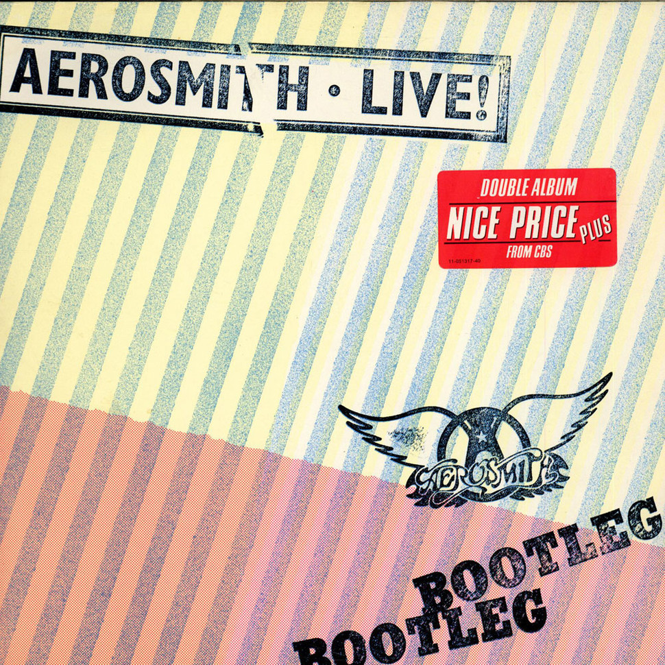 This aerosmith live bootleg album cover can suggest