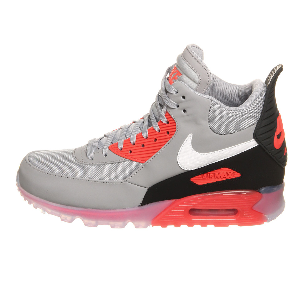 Nike Air Max 90 Sneakerboot Ice Wolf Grey Infrared 684722 006