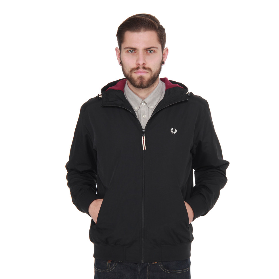 fred perry hooded sailing jacket black hhv. Black Bedroom Furniture Sets. Home Design Ideas