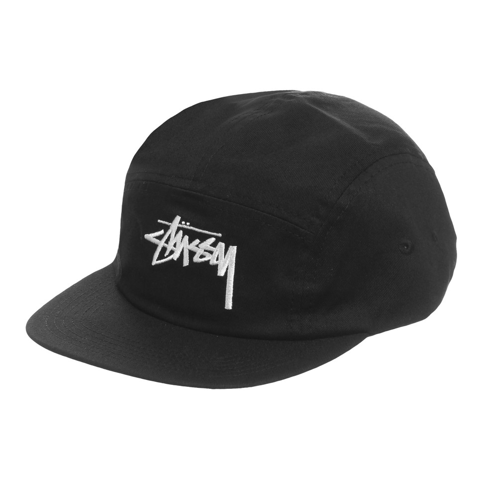 Stüssy - Stock 5-Panel Cap (Black)  ba9af81e5a9