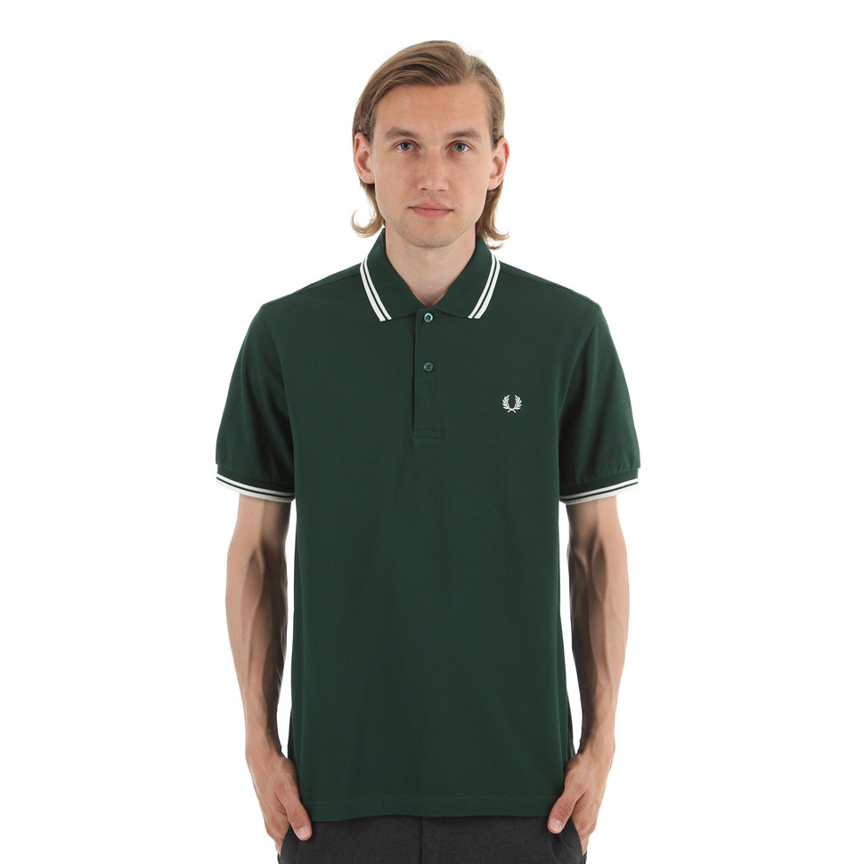 b8574d13c Fred Perry - Twin Tipped Fred Perry Polo Shirt (Ivy   Ecru)