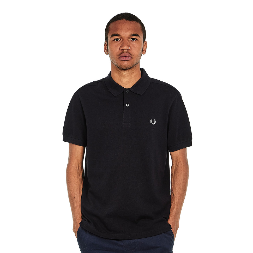 Fred Perry Plain Slim Fit Fred Perry Polo Shirt Black Chrome Hhv