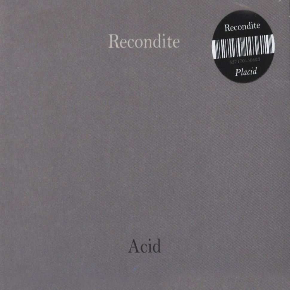 Recondite placid on acid 2cd 2015 de original for Best acid house albums