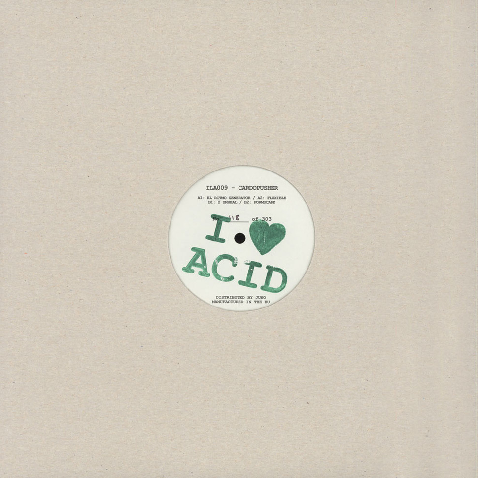Cardopusher ila 009 vinyl 12 2016 uk original for What do you know about acid house music
