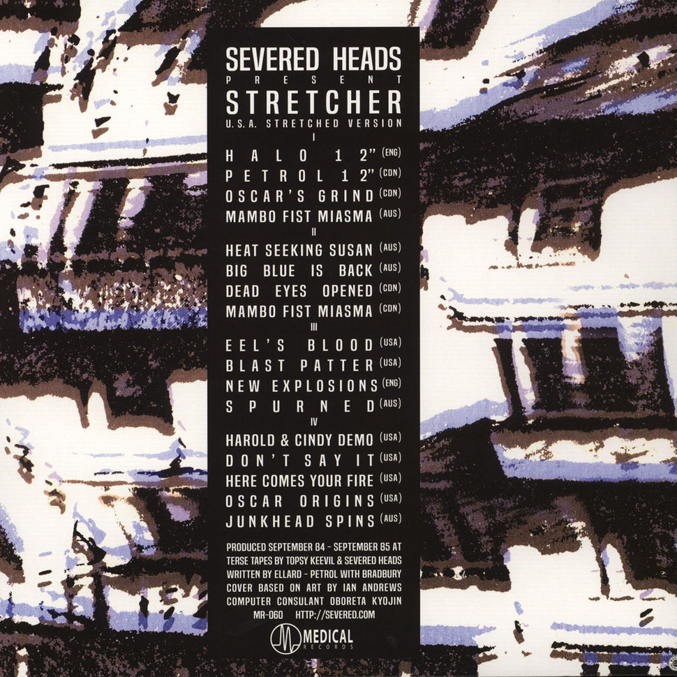 Severed Heads Stretcher Usa Stretched Version Vinyl