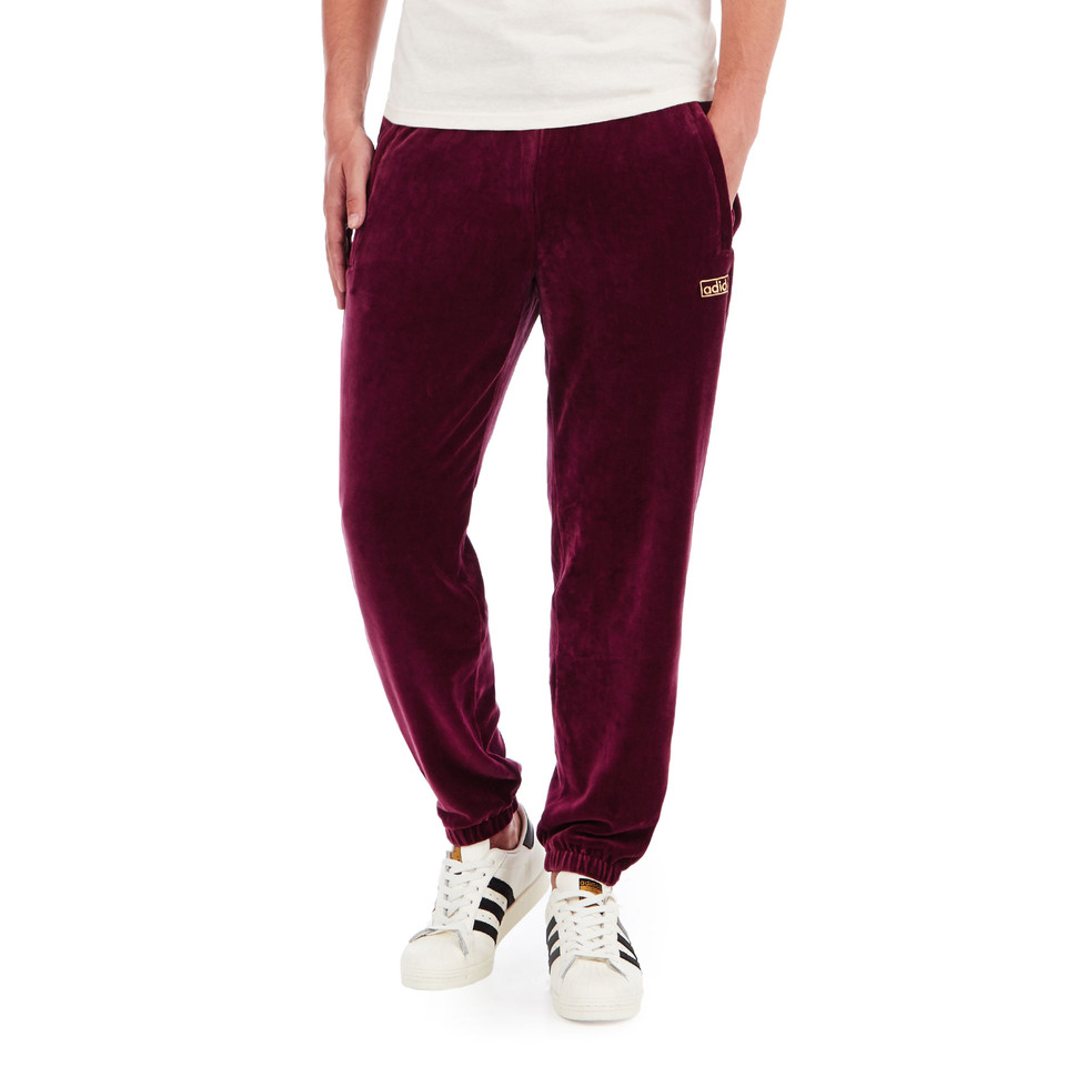 adidas velour cuffed pants maroon. Black Bedroom Furniture Sets. Home Design Ideas