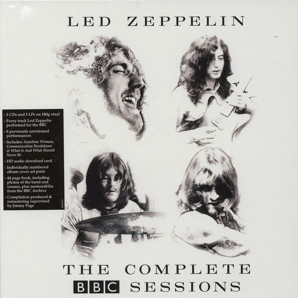 Led Zeppelin The Complete Bbc Sessions Vinyl 5lp Box