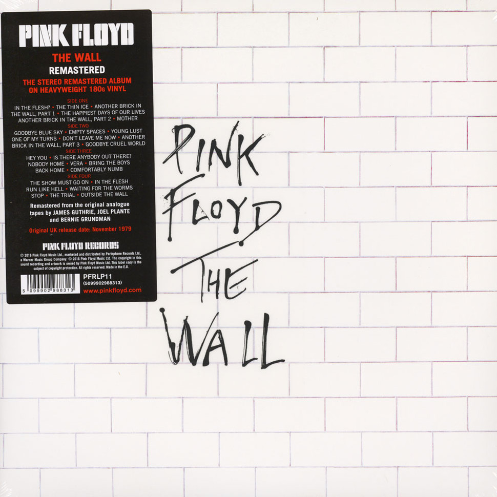 Pink Floyd The Wall Remastered Edition Vinyl 2lp