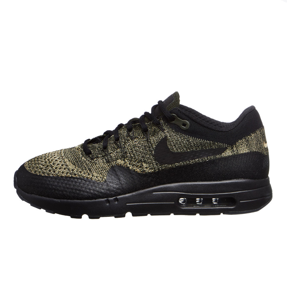 15be1811a76 Nike - Air Max 1 Ultra Flyknit (Neutral Olive   Black   Sequoia)