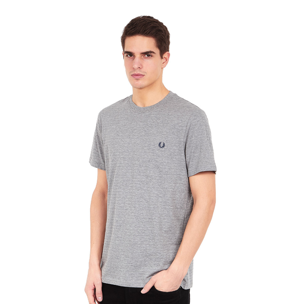 cdc79aacca4 Fred Perry - Textured Stripe T-Shirt (Steel Marl)