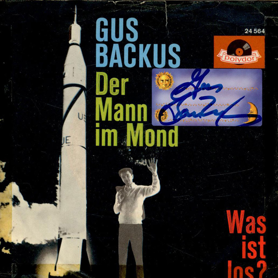 gus backus der mann im mond was ist los vinyl 7 1961 de original. Black Bedroom Furniture Sets. Home Design Ideas